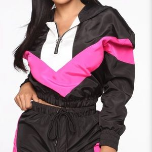 Windbreaker Pink/Black Set